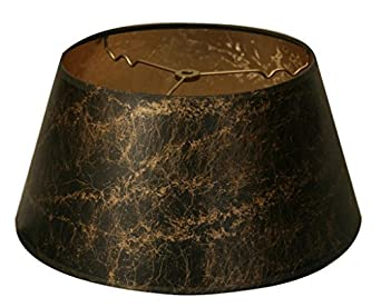 lamp shade black with gold spiderweb shell w pony hair gold lining. Black Bedroom Furniture Sets. Home Design Ideas