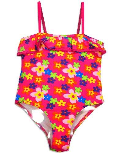 Pink Platinum - Little Girls' One Piece Flower Swimsuit, Pink 30452-4 front-983940