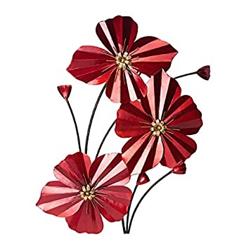 Elements Red Poppy Spray Right Wall Décor, 20.5-Inch By 30-Inch