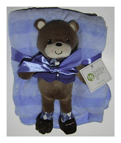 6458 Blanket Set w/ Doll Blue ONE