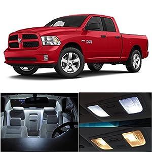Ledpartsnow 2015 Dodge Ram 1500 Xenon White Premium Led Interior Lights Package 12