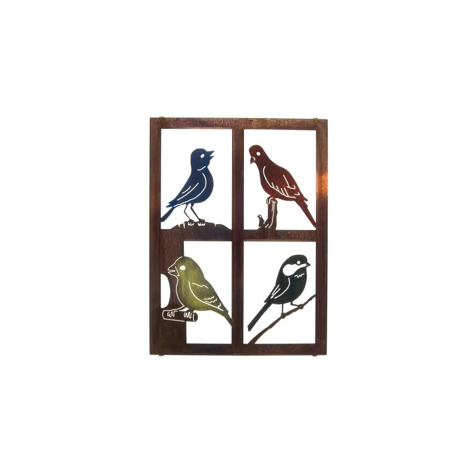 20 Lazart Metal Wall Art Wall Decor   Birds Window Pane