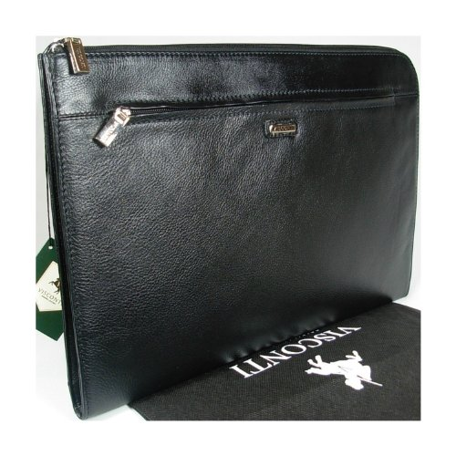 New gents Visconti black leather folio wallet bag 18238