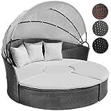 Poly Rattan Lounge Sonneninsel mit Tisch Wohlfühllandschaft inkl. Kissen