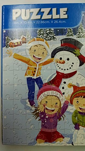 100 Piece Cartoon Snowman w/ Top Hat Jigsaw Puzzle