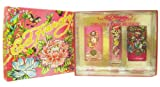 Ed Hardy Women Deluxe Collection Gift Set with Born Wild, Ed Hardy and Hearts & Daggers Sprays
