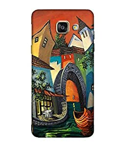 small candy 3D Printed Back Cover For Samsung Galaxy A7 2016 -Multicolor city