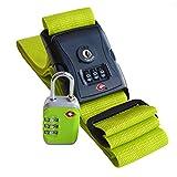 % HERBST-AKTION % Koffergurt & Kofferschloss grün TSA zertifiziert Set von Globeproof