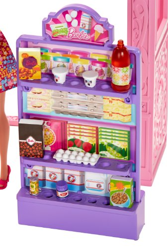 Barbie Toy Food : Barbie life in the dreamhouse grocery store and doll