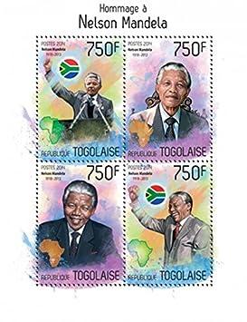 (原创)方寸天地伟人长存:纪念曼德拉逝世邮票8 多哥 - 六一儿童 - 译海拾蚌