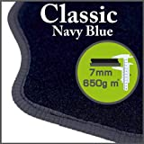 Daihatsu Charade 2003 to Current Classic Navy Blue Tailored Floor Mats