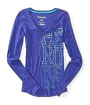 Aeropostale Womens Glitter Graphic T-Shirt 562 M