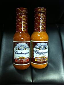 Budweiser Wing Sauces Combo Gift Pack- Budweiser Mild Tangy Wing Sauce And Budweiser Hot Spicy Wing Sauce