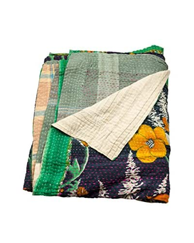 bambeco Vintage Kantha Quilt, Multi As You See