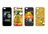 Wholesales 4pcs Adventure Time Cartoon Fashion Hard back cover skin case for apple iphone 5 5s 5g 5th generation-i5ad4009