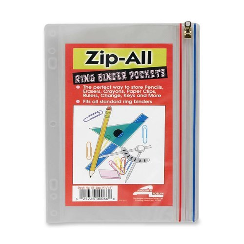 anglers-company-ltd-products-zip-all-ring-binder-pocket-10-1-2x8-clear-sold-as-1-ea-binder-pocket-of