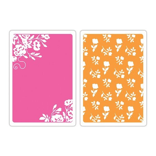 sizzix-textured-impressioni-a6-goffratura-cartelle-2-pkg-confine-bloom-rose-garden
