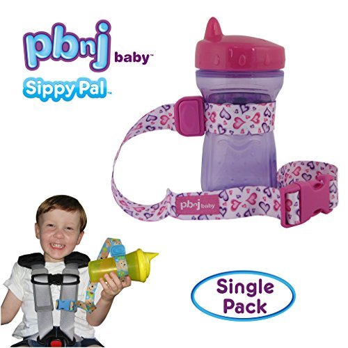 PBnJ Baby SippyPal Sippy Cup Holder Strap Leash Tether (1 Hearts)