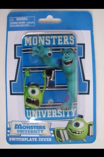 Disney Monsters University Mike/sully Light Switch Plate (Single) - 1