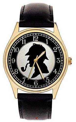 sherlock-holmes-fantastic-celluloide-silhouette-arte-da-collezione-detective-orologio