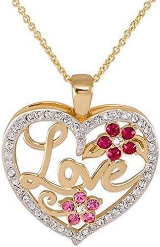 Gold-Tone Love Heart Pendant