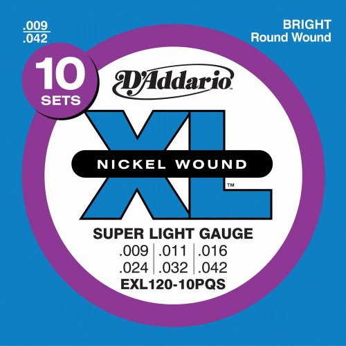 D'Addario EXL120-10P Nickel Wound Electric Guitar