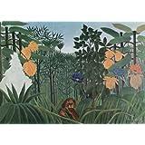 """Kunstdruck (Henri Rousseau - Das Mahl des Loewen) als Poster, Leinwandbild, Dibondbild oder auf Acrylglas in verschiedenen Formatenvon """"bilder-bilderrahmen.de"""""""