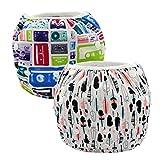Alvababy paquete de pañales reutilizables y impermeables para natación, 2pcs en un paquete ZSW-H001002-ES