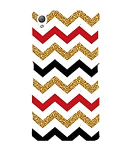 Colorful Zig Zag Pattern 3D Hard Polycarbonate Designer Back Case Cover for Sony Xperia Z3 :: Sony Xperia Z3 D6653 D6603