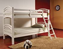 Hot Sale Twin/Twin Bunk Bed White Finish