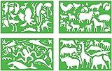 Zeichenschablonen Tiere