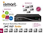 iSmart X10 Turbo 8PSK NEWEST 2015 VERSION High Definition PVR Receiver (Full HD) , WiFi Included & JB200 Installed , External IR , HDMI Cable & AV Cable Included