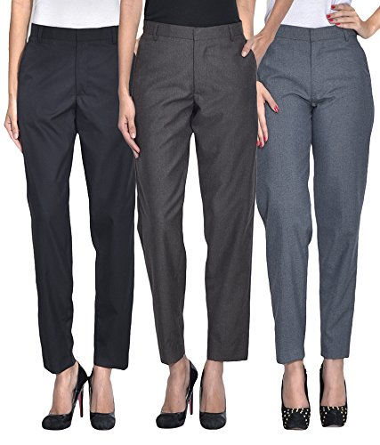 American-Elm-Womens-Formal-Office-Trousers-Pack-of-3