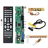 Generic V56 Universal LCD TV Controller Driver Board PC/VGA/HD/USB Interface+7 Key Board+Backlight Inverter+1ch 6-bit 30pin LVDs Cable