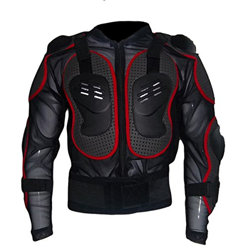 Motorcycle Full Body Armor Protector Pro Street Motocross ATV Jacket Shirt (Large, Red) (Pro Mesh Motorcycle Jacket Rain compare prices)