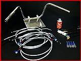 ゼファーχ (ゼファー カイ) セミしぼりアップハンドル セット 20cm アップハン メッシュ アップハン メッシュブレーキホース バーテックス