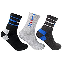 Bonjour Teenage Sports Cotton Socks Pack Of 3 Pairs_BRO1155-06-PO3