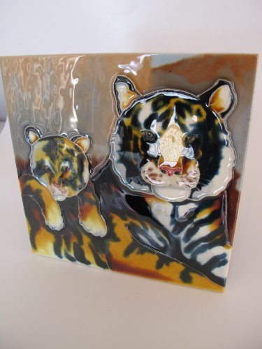 8x8 Wall Decor Tiger Art Tile