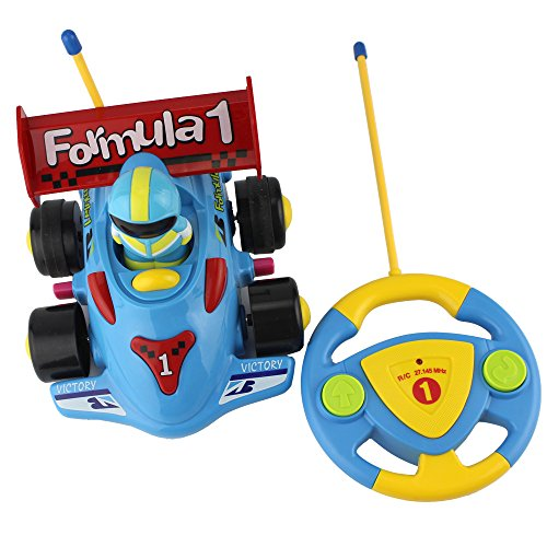 Cartoon R/C Formula Race Car Radio Control Toy for Toddlers (Various colors)