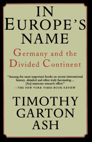 In Europe's Name: Germany and the Divided Continent