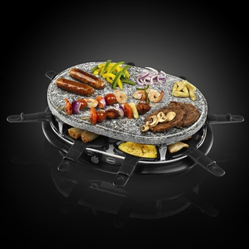 Swan Stone Raclette Set