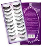 False Eyelashes/ False Lashes/ Eyelashes/ Eyelashes Extension/ Falsies/ Fake Eyelashes. On Sales Now! 10 Pairs 10 Styles Natural and Glamorous Premium Set. 100% Guarantee Satisfaction. 100% Money Back RISK FREE Guarantee!