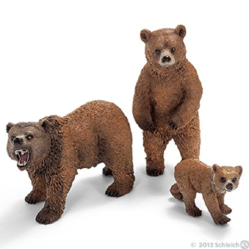 Schleich Wild Life Brown Grizzly Bear Family Set