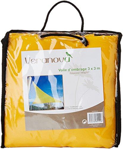Véranova 5MER094JN - Vela de sombra para patio, amarillo
