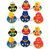 12 Super Hero Rubber Duck Party Favors