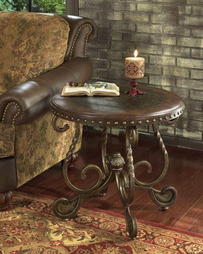Cheap Signature Design by Ashley Rafferty Round End Table (T382-6)