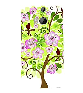 printtech Flower Tree Beautiful Greenery Back Case Cover for HTC One M9::HTC M9::HTC One Hima