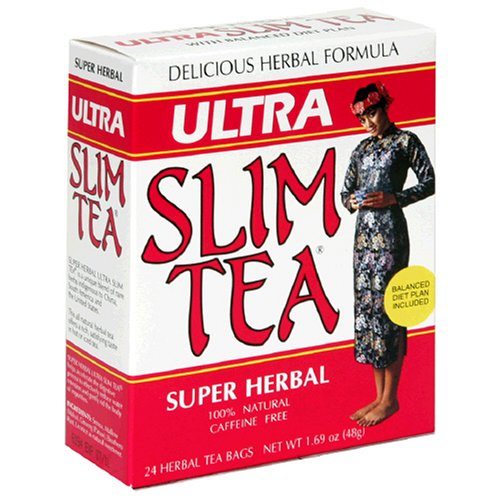 Ultra Slim Tea, Super Herbal, Tea Bags, 24-Count Box (Pack Of 4)