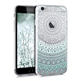 kwmobile �tui transparent en TPU silicone pour Apple iPhone 6 / 6S en blanc vert-menthe etc. Motif tribal