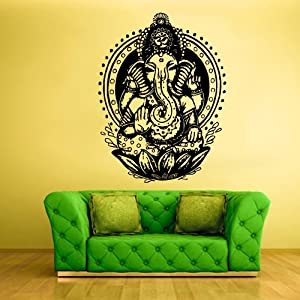 Wall vinyl sticker decals decor art bedroom for Mural ganapathi